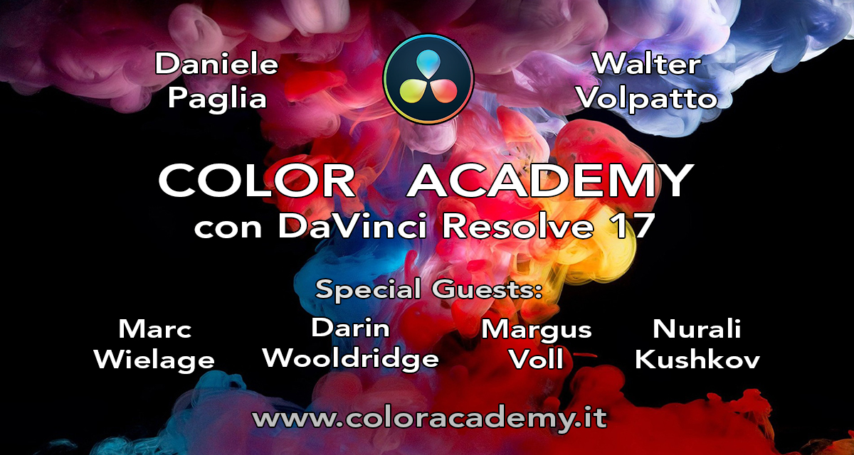 Color Academy con DaVinci Resolve 17