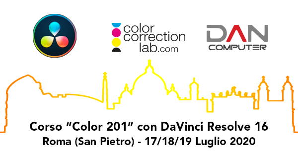 "CORSO ""COLOR 201"" CON DAVINCI RESOLVE 16 A ROMA"