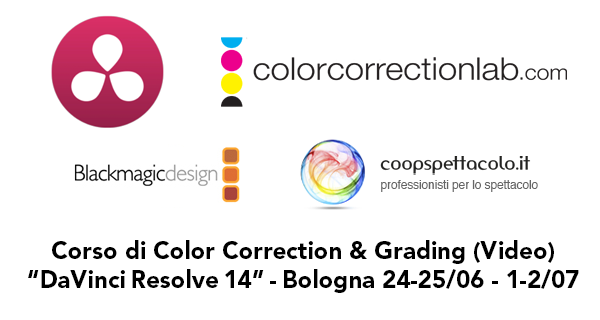 Corso DaVinci Resolve 14 a Bologna estate 2017